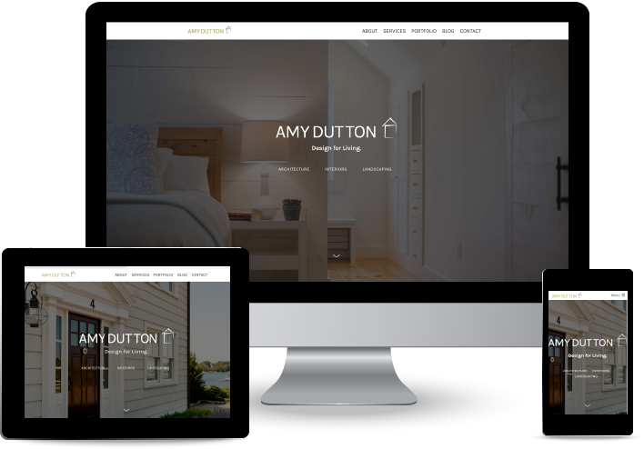 Amy Dutton Home Website Redesign