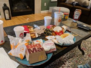 fast food destruction