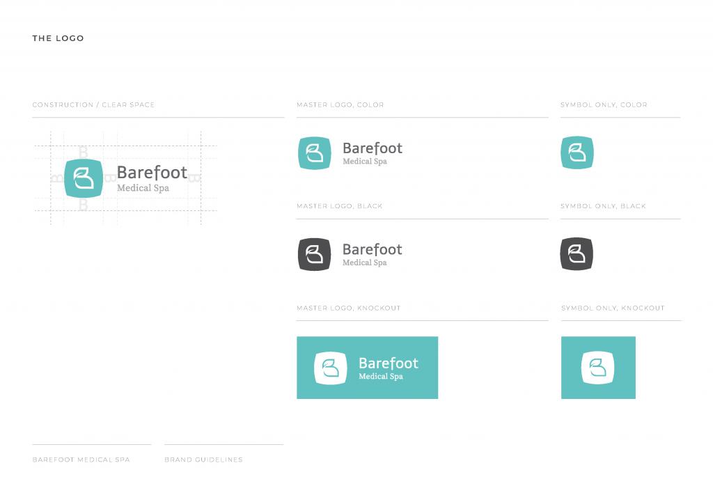 Barefoot Medical Spa Brand Design