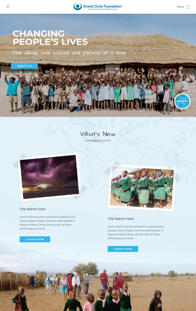 Website Redesign - Grand Circle Foundation