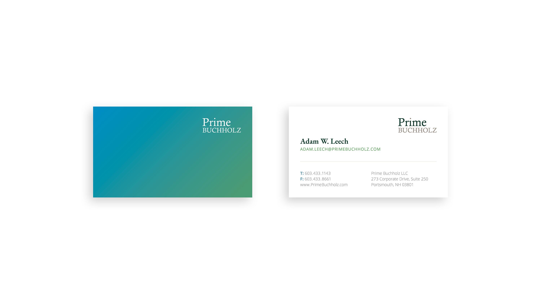 Prime_Buchholz_Business Card Design